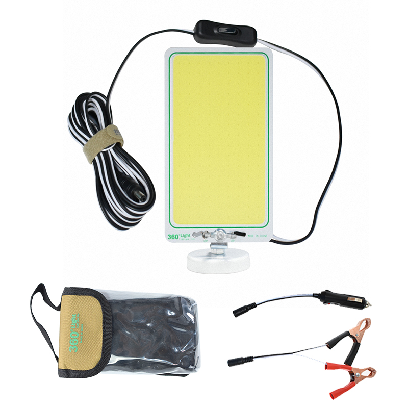 360light COB 12V Camp Waterproof Outdoor Lantern Led Camping Light Rechargeable Rod Lighting For Field Camping Road Trip Party