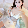 Moda Verão das Mulheres Nightwear Camisola Camisola Com Cintas de Espaguete Frete Grátis Mini Sleepwear Sem Mangas Plus Size