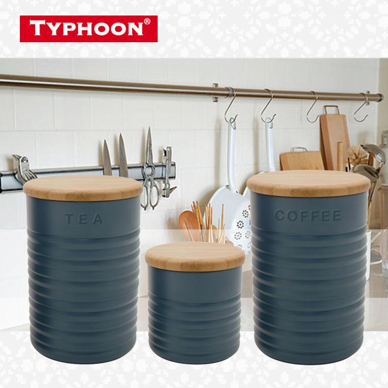 1 pièces comestible Grade Silicone + bois réservoirs de stockage cylindre boîtes thé café sucre couverture cuisine ustensiles cas ménage supar-qualité