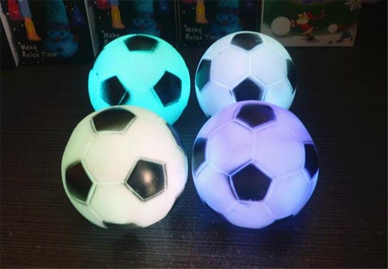 Us 3 57 5 Off 2 Stucke Led Farbwechsel Fussball Nachtlicht Mini Fussball Lampe Party Weihnachten Home Dekoration Grosses Geschenk Fur Kinder In Neuheit