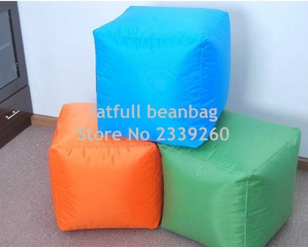 Cover Only No Filler 2016 Square Many Colors Sitting Cube Outdoor Waterproof Bean Bag Pouf