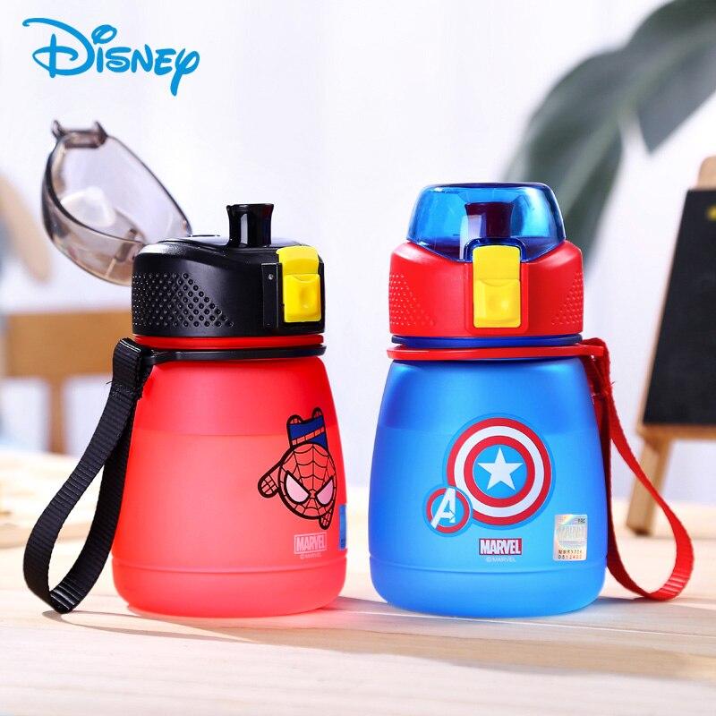 Disney 390ml Baby Water Bottle BPA Free Drinking Bottles Childrens feeding Bottle With Rope Marvel Portable For School Hiking