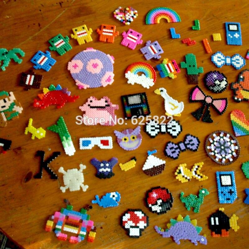 EVA 50,000 Kralen/Set 49 Kleuren 3mm Mini Hama/Perler/Zekering Kralen 1000 Bead/Tas /kleur Educatief Speelgoed Voor soorten Hand Made Activiteit-in Puzzels van Speelgoed & Hobbies op  Groep 3
