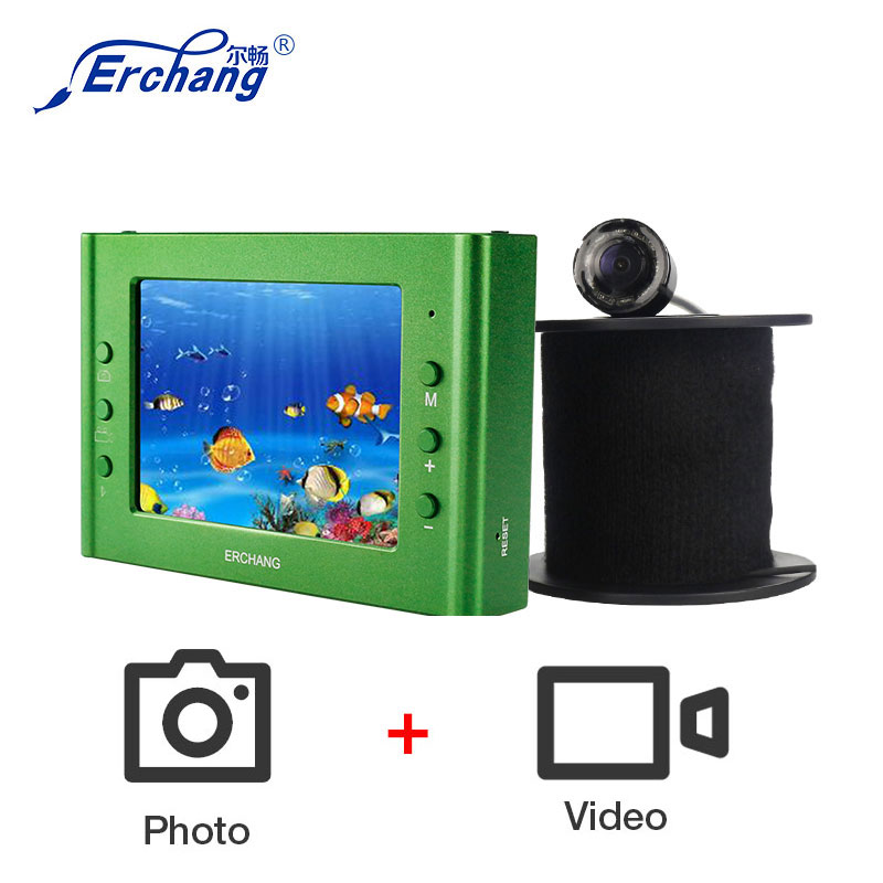 Erchang Fish Finder 1000TVL Underwater Fishing Camera DVR 3.5