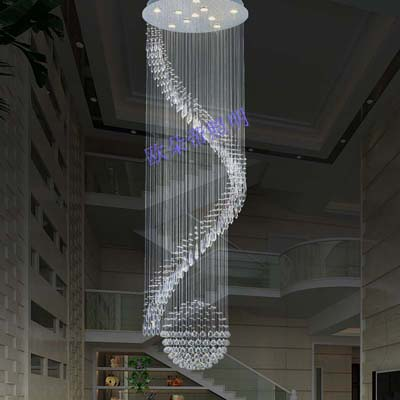 stair lamp rotating crystal long pendant light modern crystal lamp pendant ceiling living room lights ballcompare - Living Room Fancy Lights