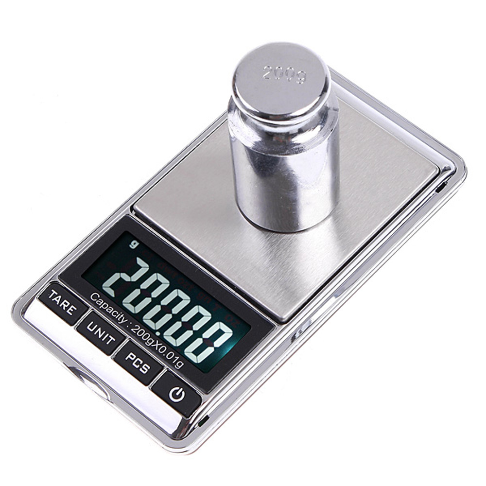 Mini Digital Scales Balance Libra Pocket Jewelry Scale Portable Electronic Jewellery Diamond Weight Weighting Scales  200g*0.01g