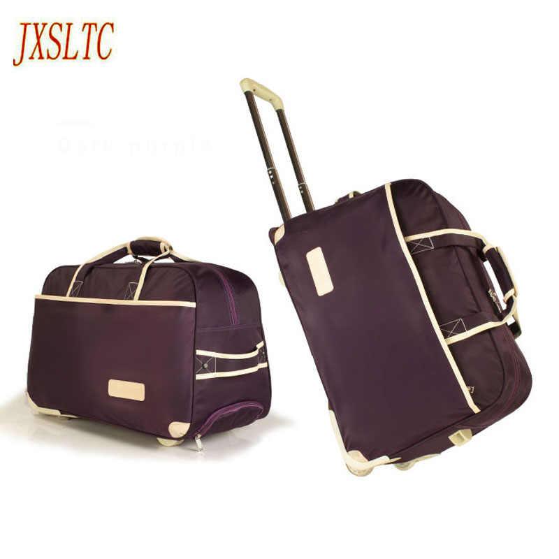 Новые модные женские туфли тележка чемодан для багажа на колесиках бренд Повседневное утолщение складной Футляр Дорожная сумка на чемодан на колесах чемодан