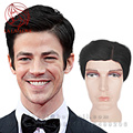 100% Best Brazilian Human wigs men's hair replacement wig side bangs for men Remy human real hair full wigs mens black hair wigs