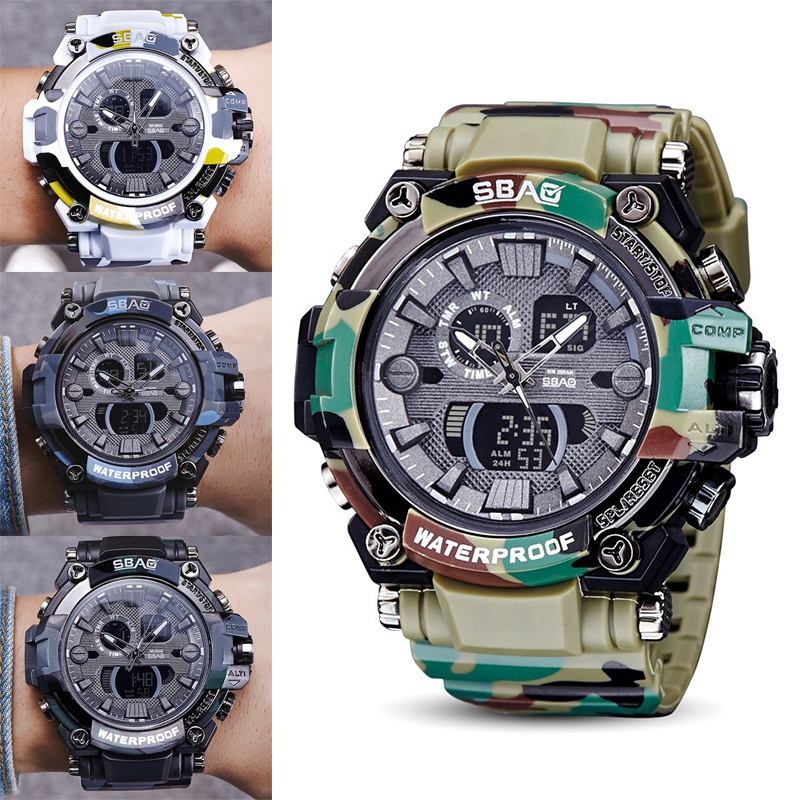 Camouflage Watch Men Waterproof military watch Sports Watches Shock Digital watch relogio masculino Stopwatch все цены