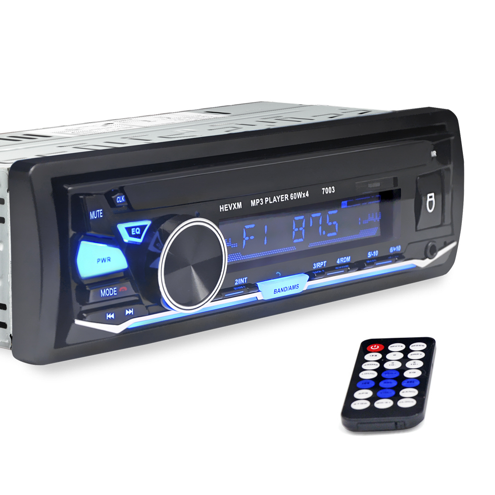 Image 3 - HEVXM 7003  Color Light MP3 Player Radio  Car MP3 Player 12V  BT  Car Stereo Audio In dash Single 1 Din  Aux Input-in Car MP3 Players from Automobiles & Motorcycles