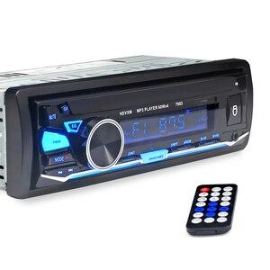 Image 3 - HEVXM 7003 Kleur Licht MP3 Speler Radio Auto MP3 Speler 12 v BT Auto Stereo Audio In dash Enkele 1 Din Aux Input