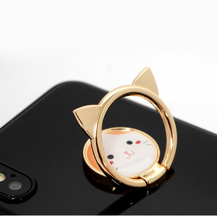 Car Phone Holder Stand For Samsung S8 Xiaomi Mi 8 Cartoon Cat Finger Ring Mobile Phone Holder For IPhone XS Max X SE 8 7 Plus