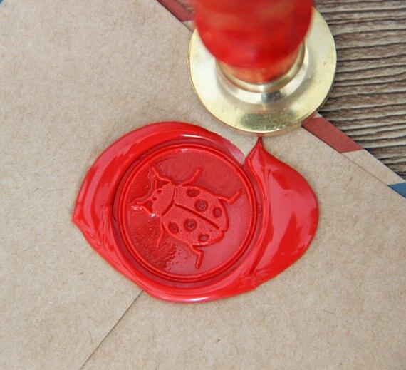 Ladybug Wax Seal Stamp/Sealing Wax Seal Bug Ladybug seal ws160