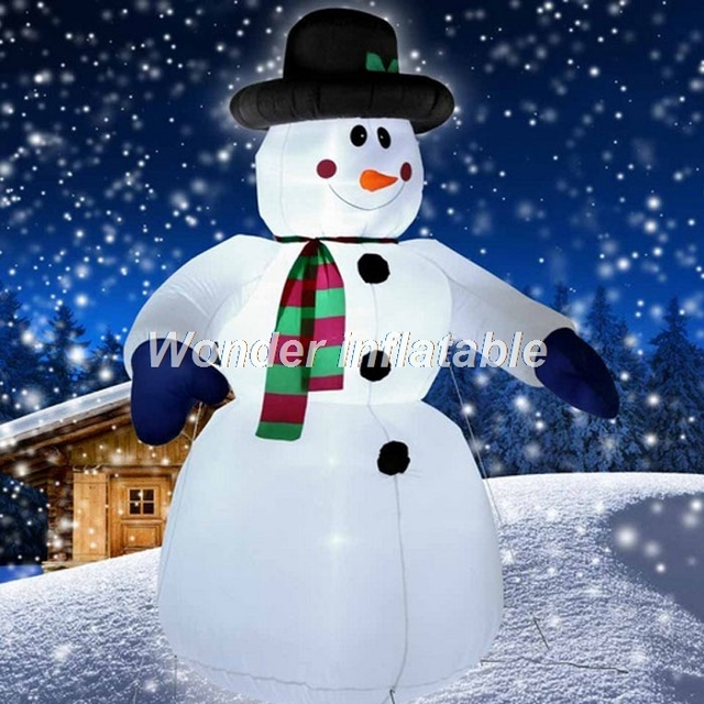 free shipping 16ft big inflatable snowman with blower lighted outdoor christmas decoration for new year
