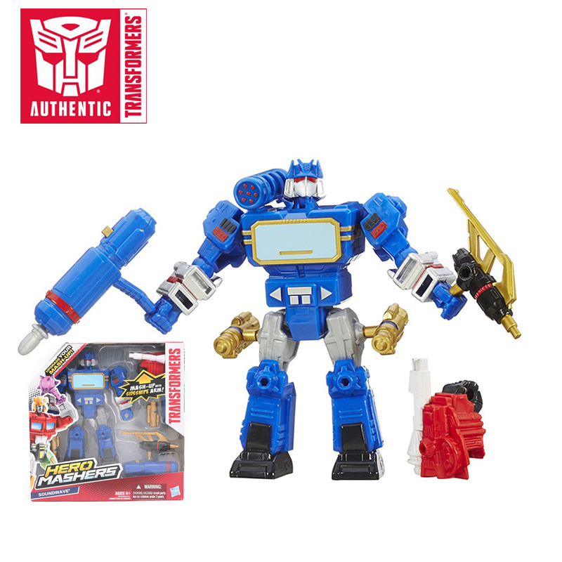 US $11 92 33% OFF|2018 Transformers Toys 15 5cm Hero Mashers Soundwave PVC  Action Figure Mash up Transformer Collection Model Dolls Toy-in Action &