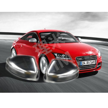 цена на For Audi TT 8J MK2 2006-2014 8S MK3 2015-2017 ABS Chromed Side Door Mirror Wing Mirror Cover Replacement Car Accessories