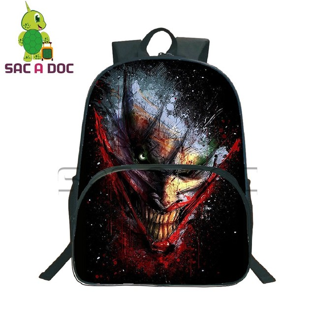 eeed5becb4c9 The Dark Knight Joker Backpack School Backpack Daily Backpack Laptop  Backpack Teens Boys The Dark Knight Joker School Bags