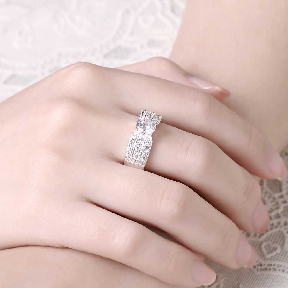 Fantastic Russian Stylish Full CZ With 925 Sterling Silver Woman ...