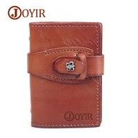 JOYIR Women Genuine Leather Wallet Credit Card Holder Butterfly Purses Wallet Slim Card Case Small Pocket