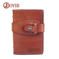 JOYIR Women Genuine Leather Wallet Credit Card Holder Butterfly Purses Wallet Slim Card Case Small Pocket