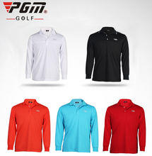 New PGM Golf Clothes Mens Solid Polo T Shirts Apparel for Men High Quality Large M-XXL Ropa De Golf Tshirts Polyester 5 Colors(China)