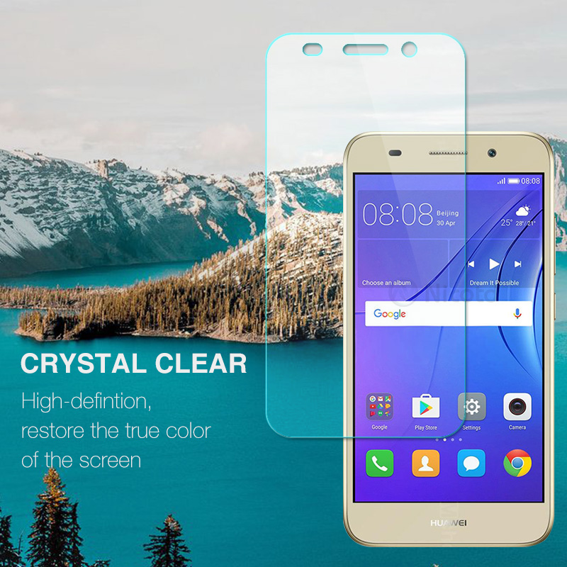 Image 3 - For Huawei Y3 2017 Tempered Glass For Huawei Y3 2017 CRO U00 CRO L02 CRO L22 CRO L03 CRO L23 Screen Protector Protective Film-in Phone Screen Protectors from Cellphones & Telecommunications
