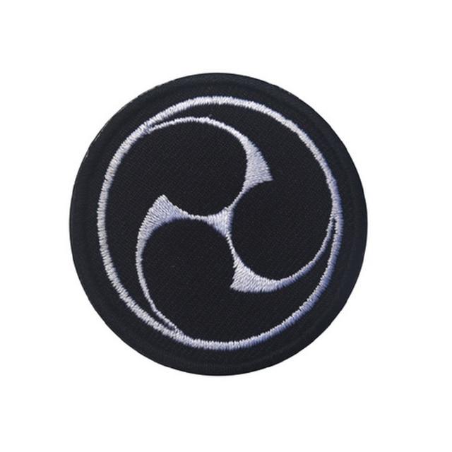 Patchs boucles et crochet ronds en 3D 10 pièces/lot | Patchs de broderie ninja, patchs de style ninja japonais, badges