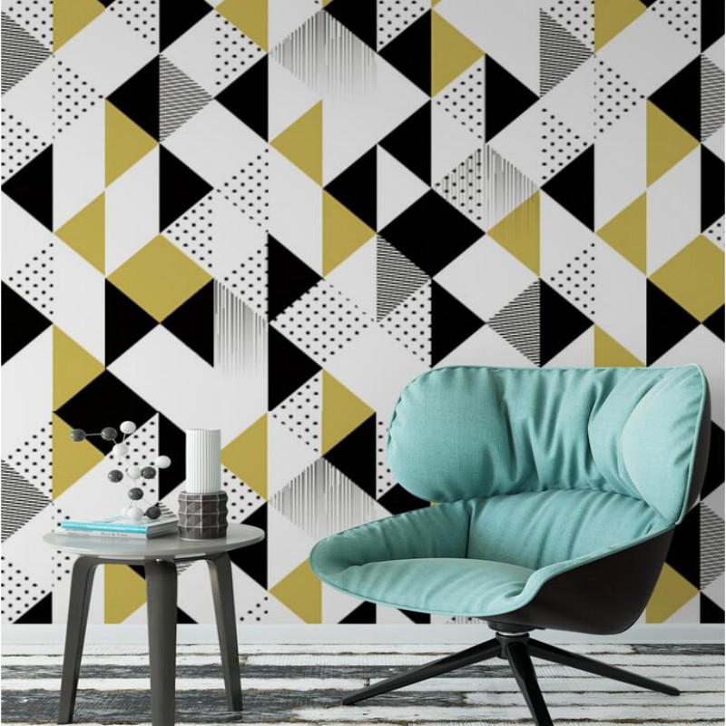 3D stereoscopic mural wallpaper TV backdrop painting living room bedroom Modern simple geometric pattern patches wallpapers modern simple romantic snow large mural wallpaper for living room bedroom wallpaper painting tv backdrop 3d wallpaper