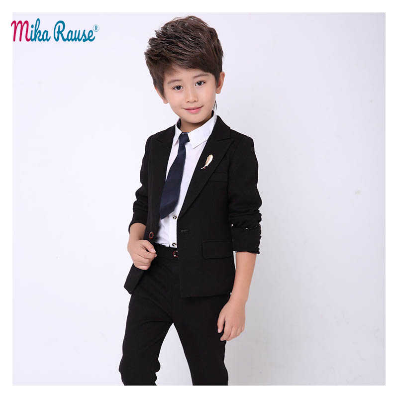 da383679dc2a Detail Feedback Questions about Fashion Kids Red suits boys wedding ...
