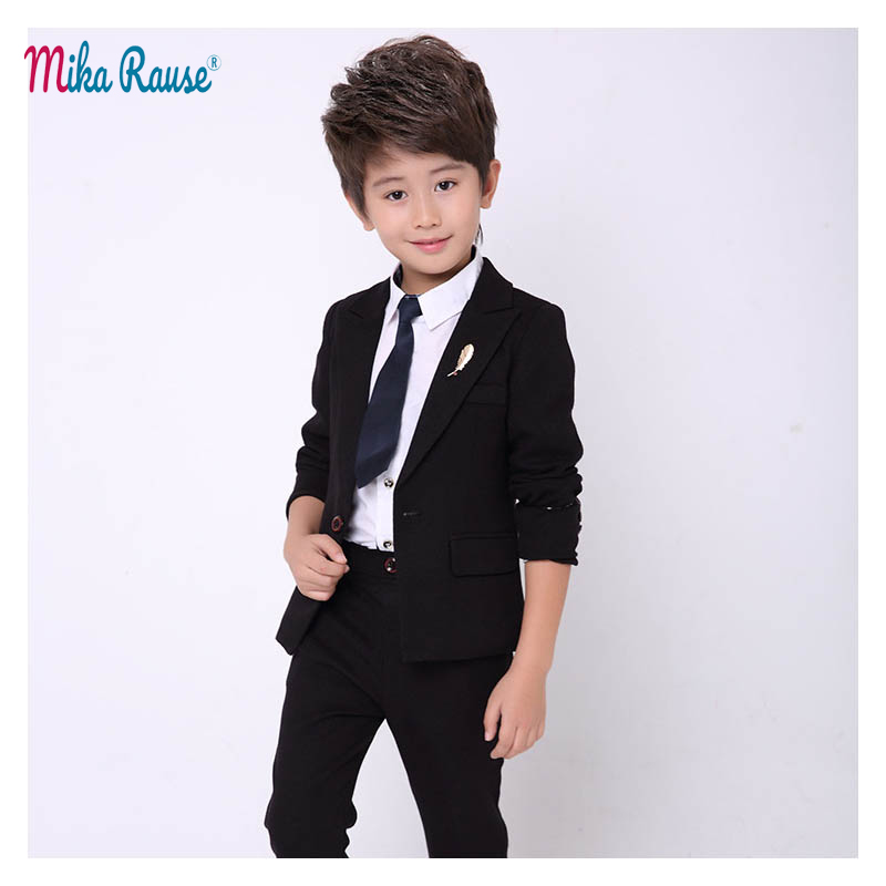 New kids Slim body blazer for boys suits baby boy 2PCS Black casual suits for boy tuxedo children party costume wedding clothes