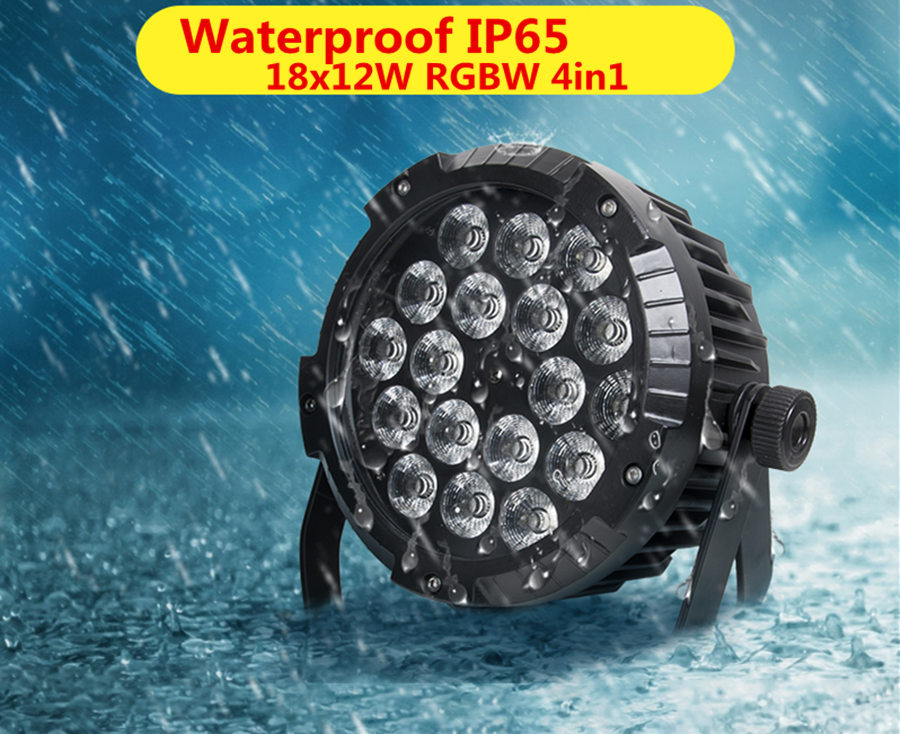 18X12W IP65 waterproof led Par Lights, RGBW 4in1 LED PAR DMX512 control professional stage DJ equipment disco lights 2pcs lot rgbw 4in1 18x12w led par full color disco lights dmx512 par led professional dj equipment dye with power in power out