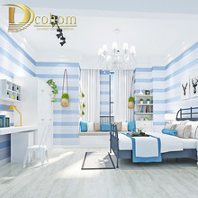 Pink Blue Beige Cream white 3D Stripe Baby Boys Bedroom Wallpaper Kids Rooms Wall Paper Child Papel de Parede(China)