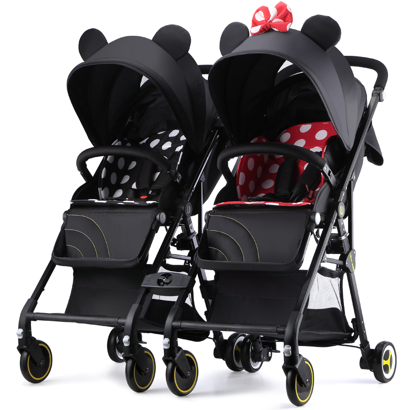 Fast shipping ! twin baby strollers ultra light portable can sit and lie detachable folding  double pram with 20 pcs free giftsFast shipping ! twin baby strollers ultra light portable can sit and lie detachable folding  double pram with 20 pcs free gifts