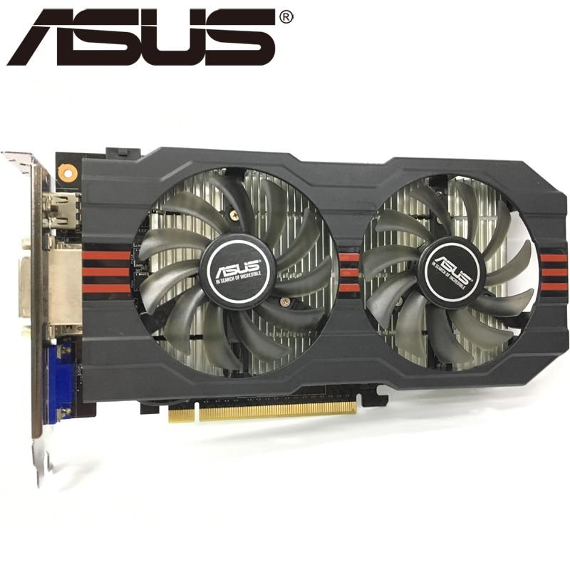 ASUS Graphics Card Original GTX 750 Ti 2GB 128Bit GDDR5 Video Cards for nVIDIA Geforce GTX 750Ti Used VGA Cards 1050 GTX750 TI 1