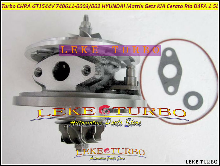 Turbo cartridge core GT1544V 782403 740611 740611-0001 28201-2A400 28201-2A100 For KIA Cerato 1.6L CRDi Rio 1.5L CRDi 81kw 85kw free ship td025 49173 02622 49173 02610 28231 27500 turbo for hyundai accent matrix getz for kia cerato rio crdi 2001 d3ea 1 5l
