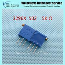 10 Шт./лот 3296X-1-502LF 3296X502 5 K ом сторона регулировка Многооборотный Триммер Потенциометр Высокоточный Переменный Резистор