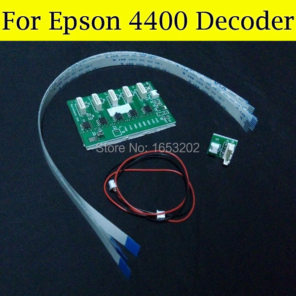 2 PC/Lot High Quality Chip Decoder For Epson 4400 Use For Epson Stylus PRO 4400 Wide Format Printer 2 pc set chip decoder card for epson stylus pro 7400 9400 wide format printer 9400 t5678 t5674 ink cartridge