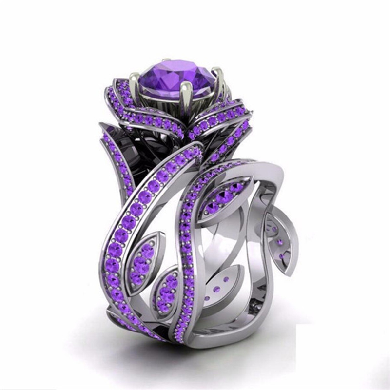 for Earrings and Rings Purple Ring Tree