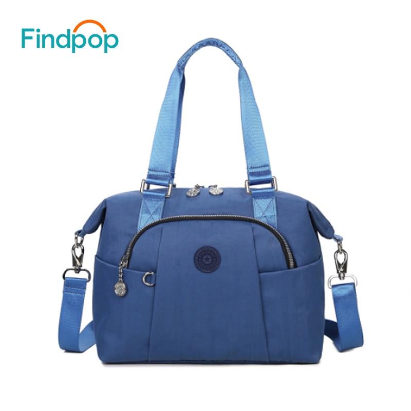 Findpop холст Для женщин сумки модные Водонепроницаемый Crossbody сумка для Для женщин 2018 большой Ёмкость Bolsa feminina черная сумка через плечо
