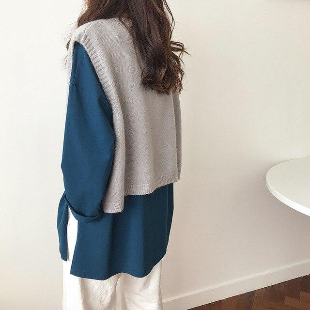 V Neck Cropped Sweater Vest Women Short Sleeveless Sweaters Fall 10