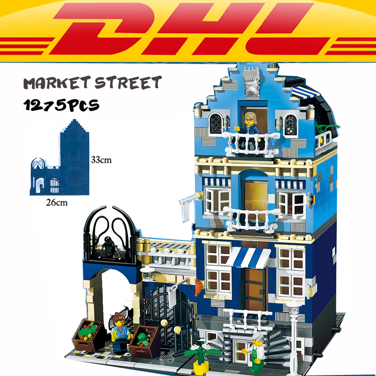LEPIN 15007 Factory City European Market Street Model Building Blocks 10190 creator toys for children kids gift girl gift lepin city creator 3 in 1 beachside vacation building blocks bricks kids model toys for children compatible with lego gift kid