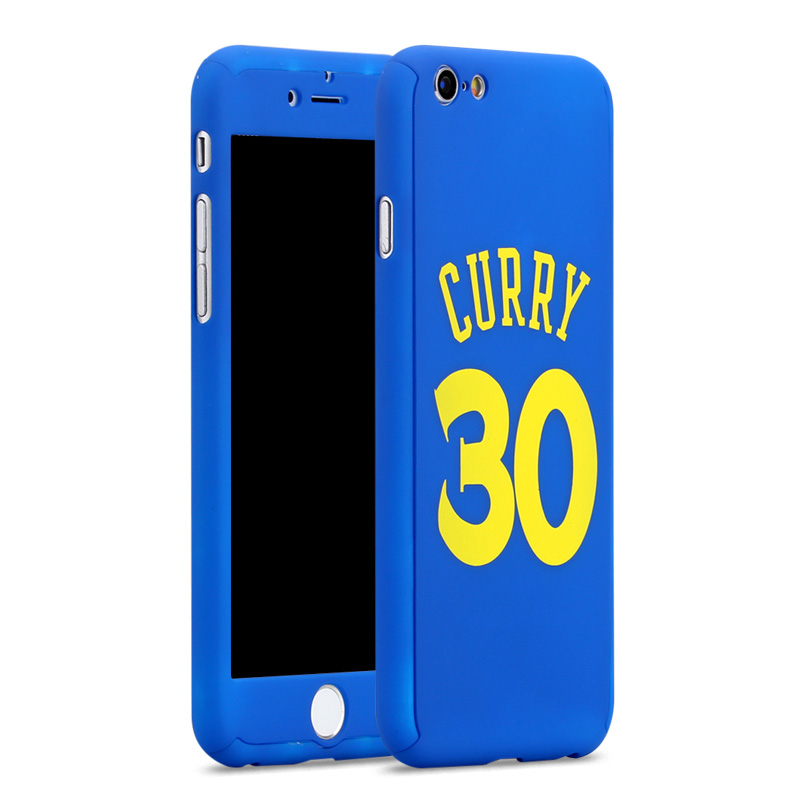 360 Case for iPhone 6 7 8 Plus 6s 6plus full body Basketball Player Phone Cover Michael Jordan Bryant curry funda for iPhone7