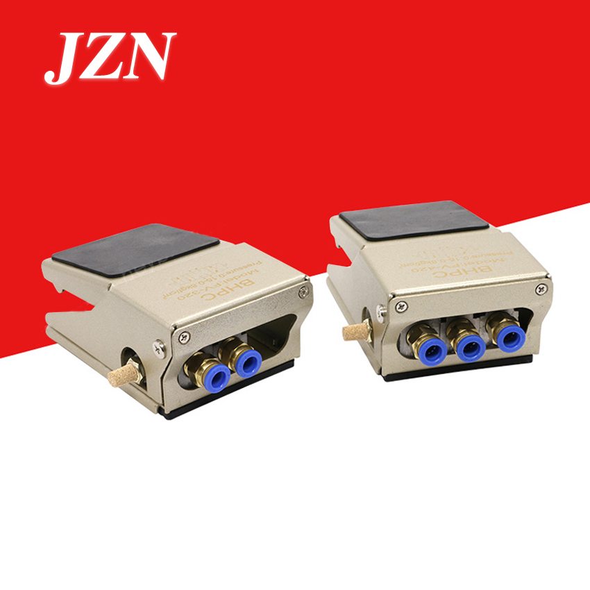 Pneumatic foot valve foot switch FV320 two position four or five through FV420 cylinder reversing controller blow dust valve high quality foot valve port 1 4 4f210 08g with cover manual plastic valve two position five way