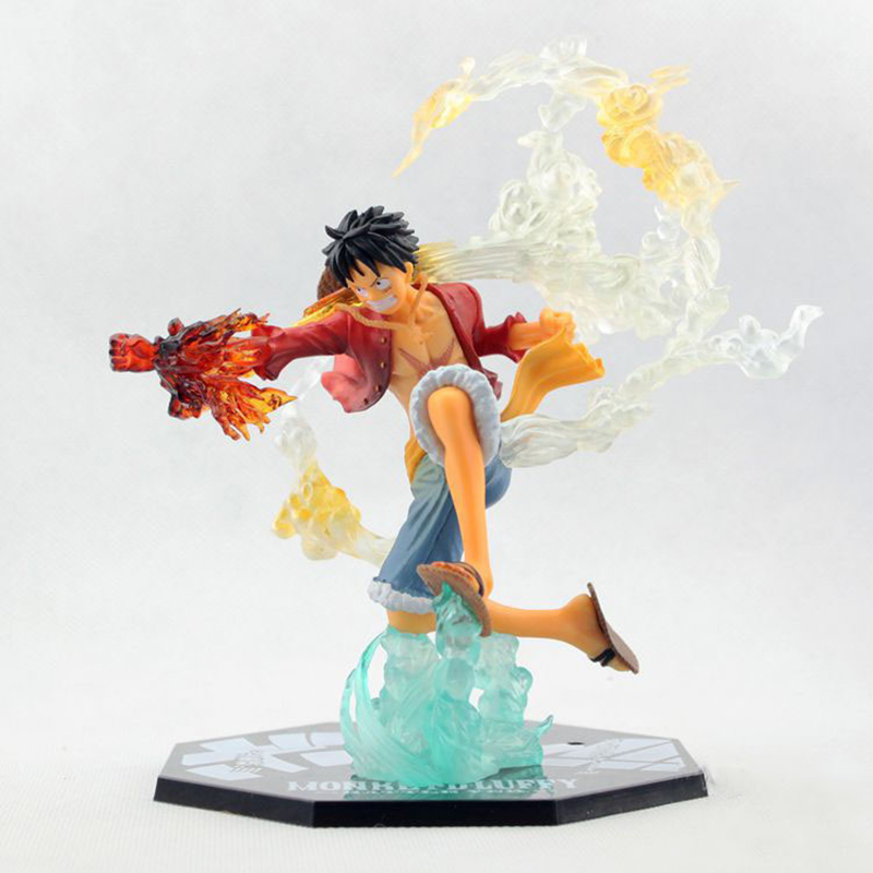 Anime One Piece Monkey D Luffy Battle Ver. PVC-aktion Figur Brinquedos Nollstycke Figurer Collection Model Leksaker 14cm