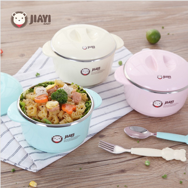 Warming Plate Injection Hot Water Insulation Cup Children's Food Dishes Dinnerware Bowl Baby Feeding Tableware R1780
