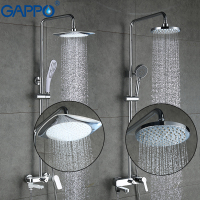 GAPPO Top Quality Shower Faucets Set Bathroom Mixer Shower Bathtub Rainfall Shower Set In Slide Bar