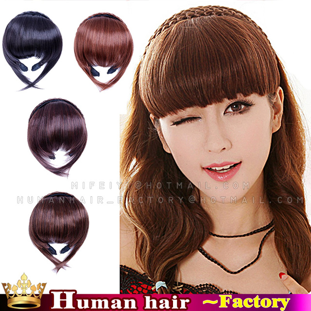 New Brazilian Human Real Hair Clip In Bangs Hair Extensions With
