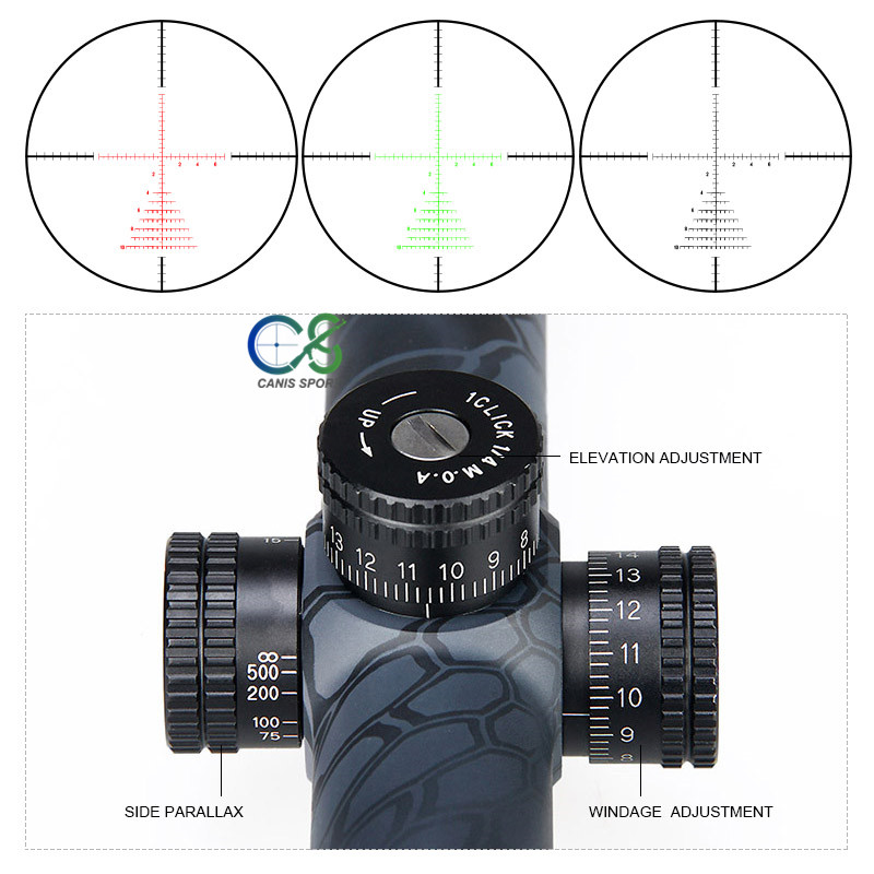 Canis Latrans Rifle Scope TM4 5 18x40 Rifle Scope Second Reticle Shockproof Fogproof 30mm Tube Size For Outdoor Hunting gs1 0287 in Riflescopes from Sports Entertainment