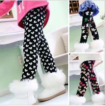 Velvet Winter Girls Leggings baby leggings Autumn Thick Warm Girls Leggings Pants Children Clothing Flower Butterfly Girls Pants