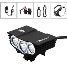 SolarStorm X3  XM-L T6 LED Rechargeable bike Lights Waterproof flashlight headlamp Fishing Outdoor Camping with 4x18650 battery